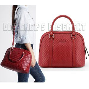 GUCCI red Guccissima Medium DOME Crossbody Bag